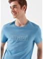 Mavi Erkek  Mavi Logo Baskılı Tişört 065781-31348 Mavi